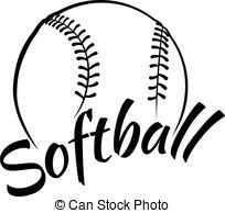 Softball white. Stock photos and images