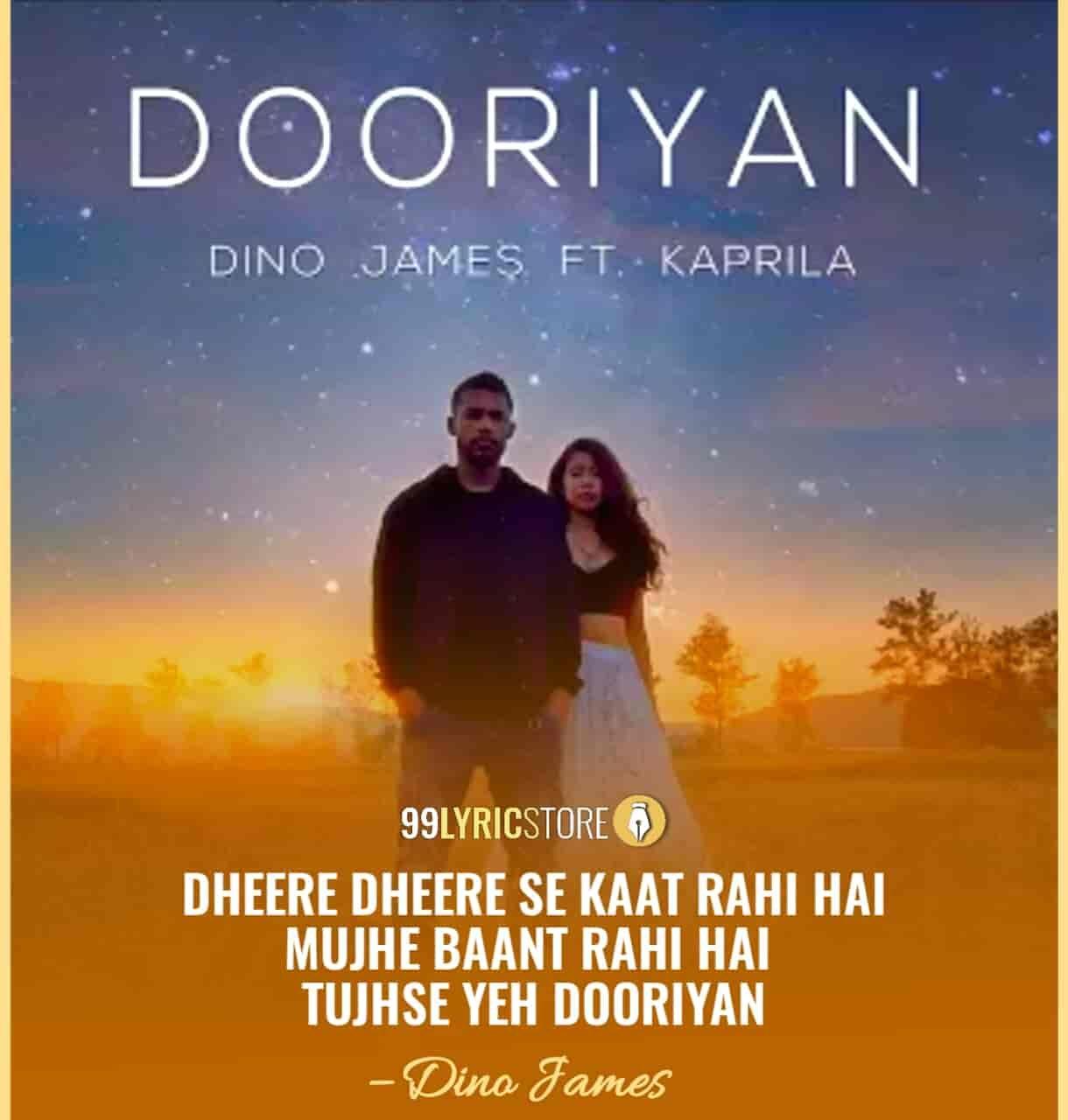 Dooriyan lyrics dino james lyrics beautiful lyrics