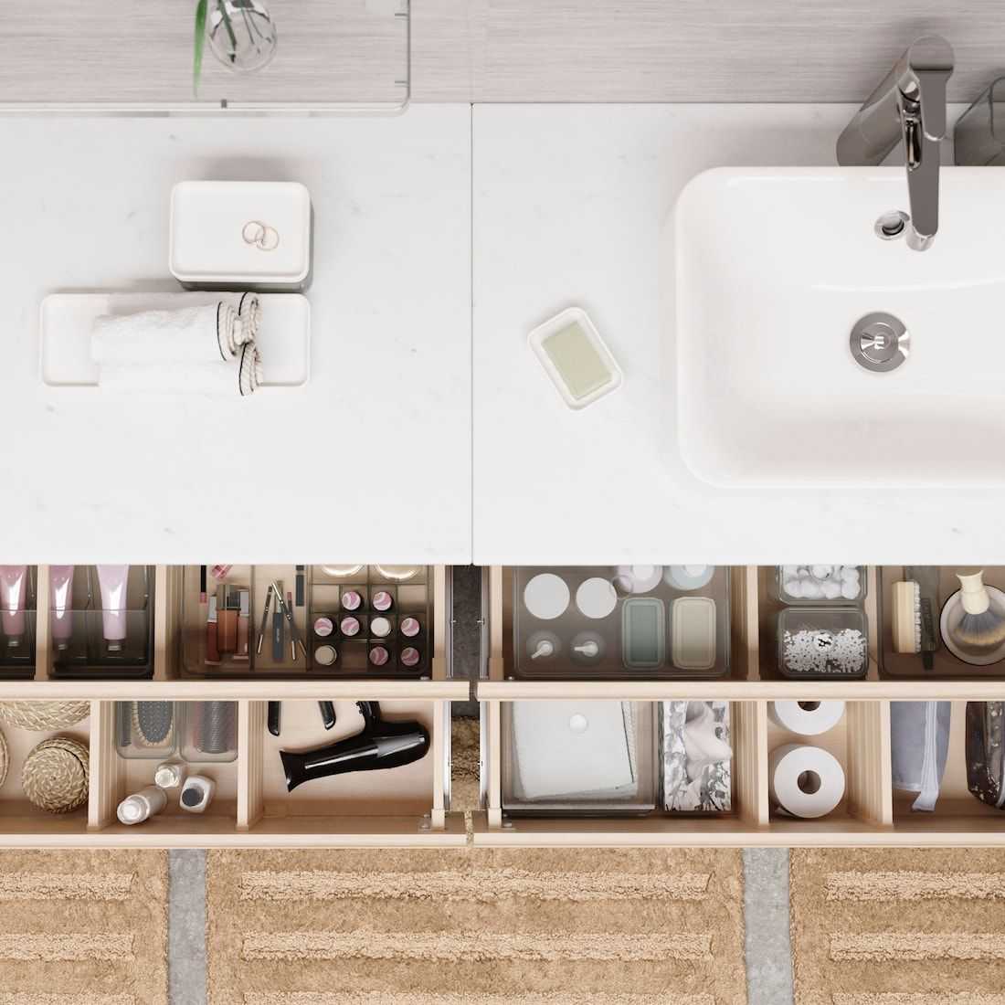 Les Secrets D Une Salle De Bain Bien Rangee In 2020 Badezimmer Badezimmer Inspiration Helle Badezimmer