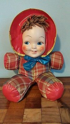 Lazy-Baby-by-Dollcraft-Vintage-Doll-Plastic-Face-with-Cloth-and-Vinyl-Body
