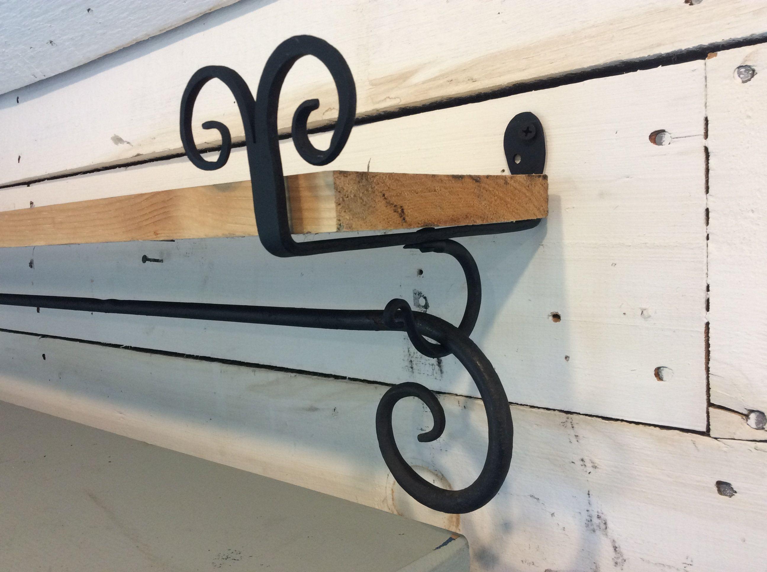 Scottishlion Curtain Rods Black Shelf Brackets Shelf Brackets