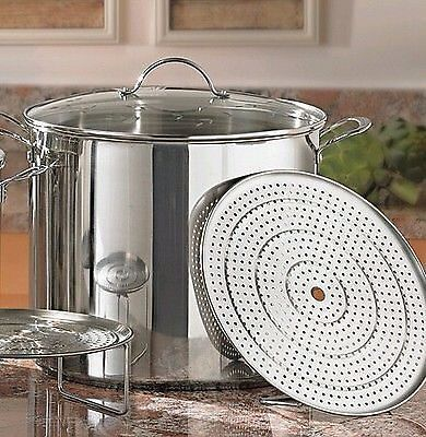 New Princess House Stainless Steel 30 Qt Stock Pot 6668 Princess