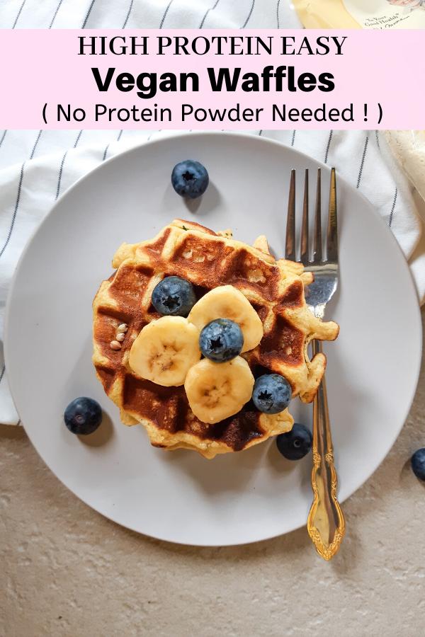 High Protein Vegan Waffles Healthy Gluten Free My Plantiful Cooking Recipe In 2020 Vegan Waffles Healthy Waffles High Protein Vegan