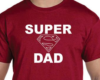 Gifts For Dad New Dad Gift Dad Gifts SUPER DAD Tshirt Christmas ...