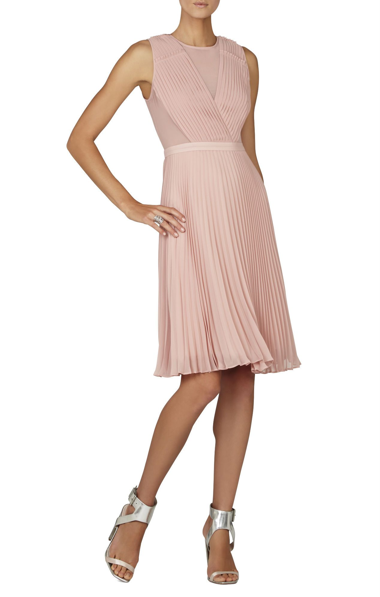 BCBGMAXAZRIA Deborah Pleated Dress | BCBG.com | party dress | Pinterest