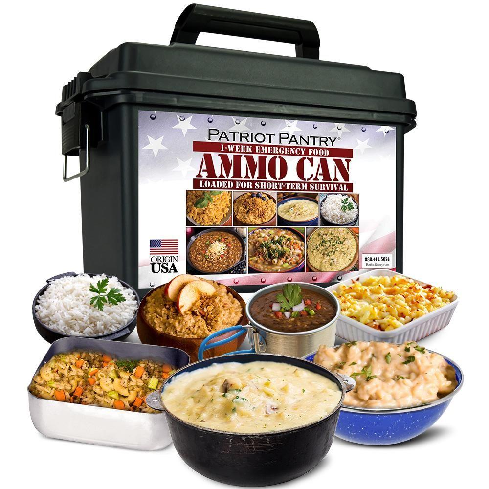 1 Week Food Supply Ammo Can Bug Out Emergency Food Kit My Patriot Supply Emergency Food Emergency Food Kits Food