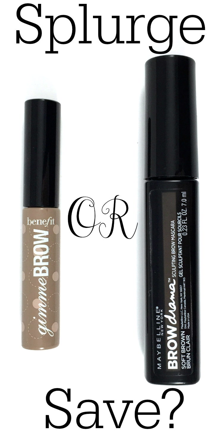 Splurge or Save? Benefit Gimme Brow vs Maybelline Brow Drama