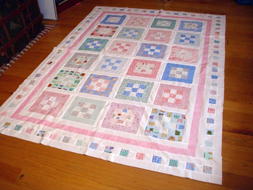 Sheri Salatin | Sweet Menagerie Nine-Patch Quilt