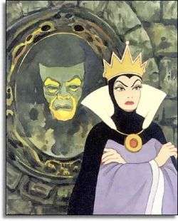 This is the magical mirror that the evil stepmother went to for