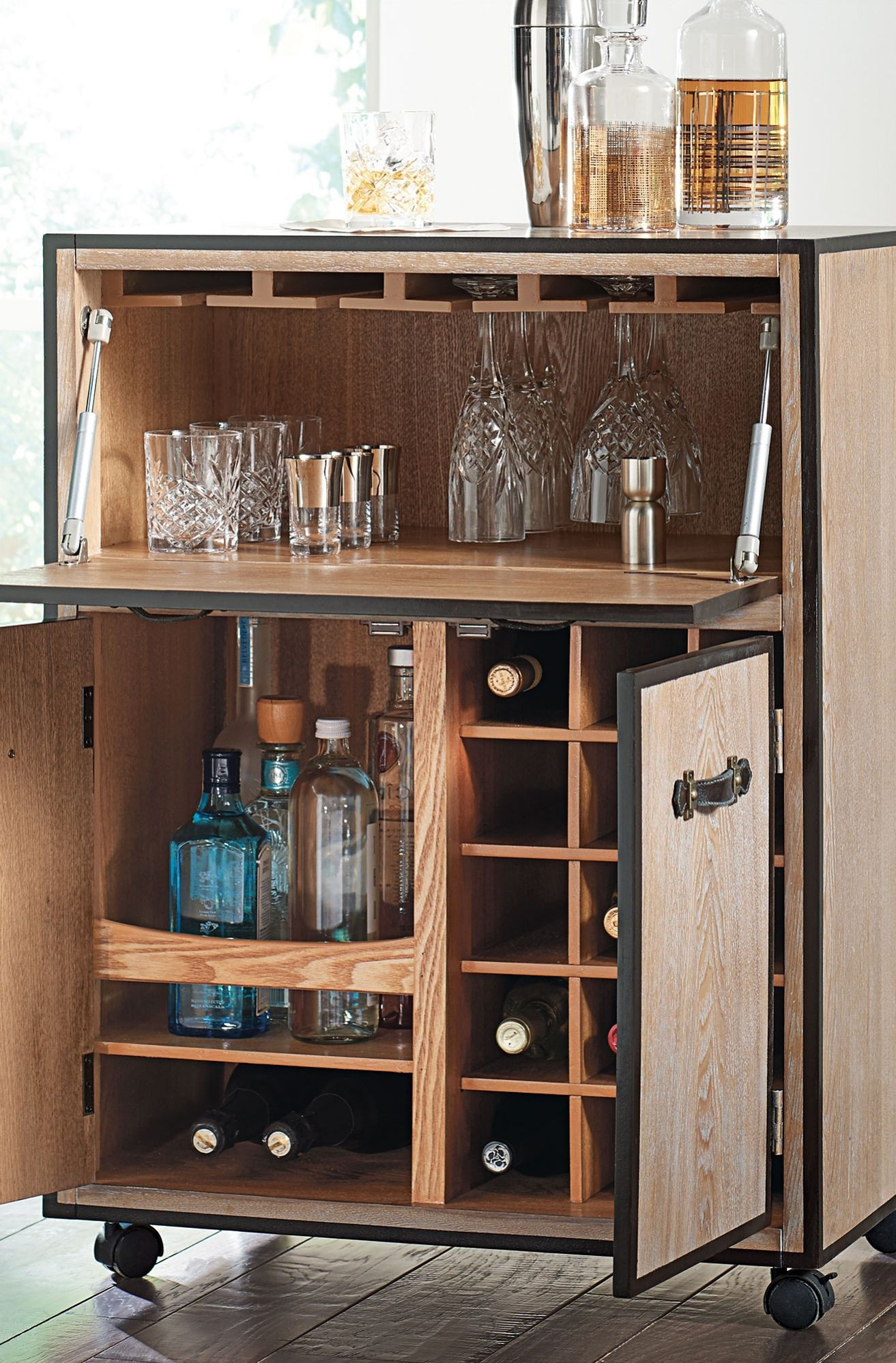 Move The Party From Room To With Our Portable Galway Mobile Bar Cart