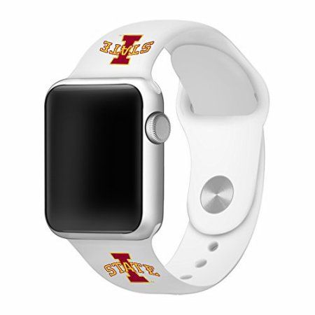 Iowa State Cyclones 38mm White Silicone Sport Band fits