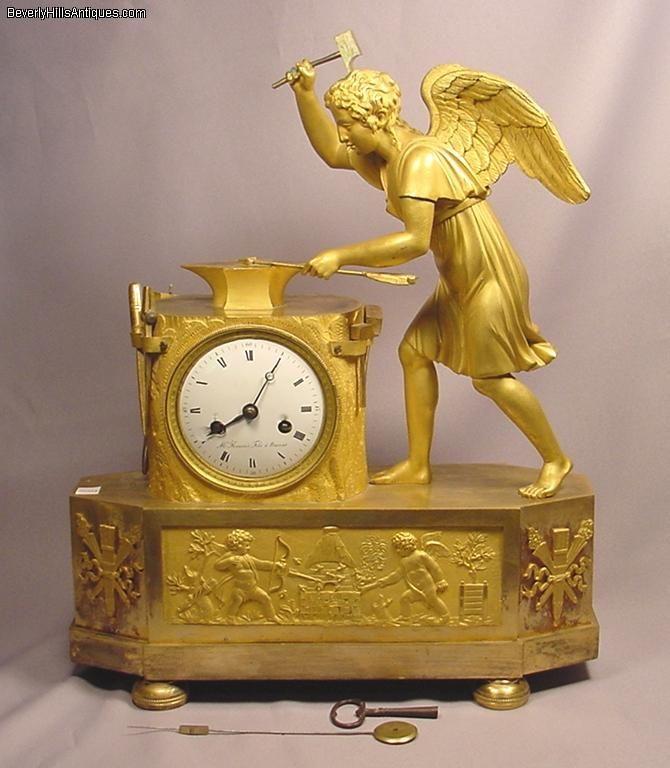 Circa1800 French Angel Arrow maker Clock