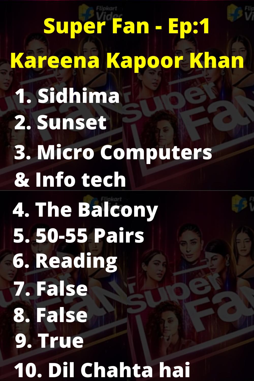 Flipkart Super Fan Quiz Answers Episode 1 Kareena Kapoor Khan Quiz Trivia Quiz Trivia