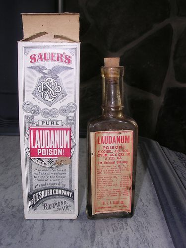 Laudanum Bottle And Box Old Medicine