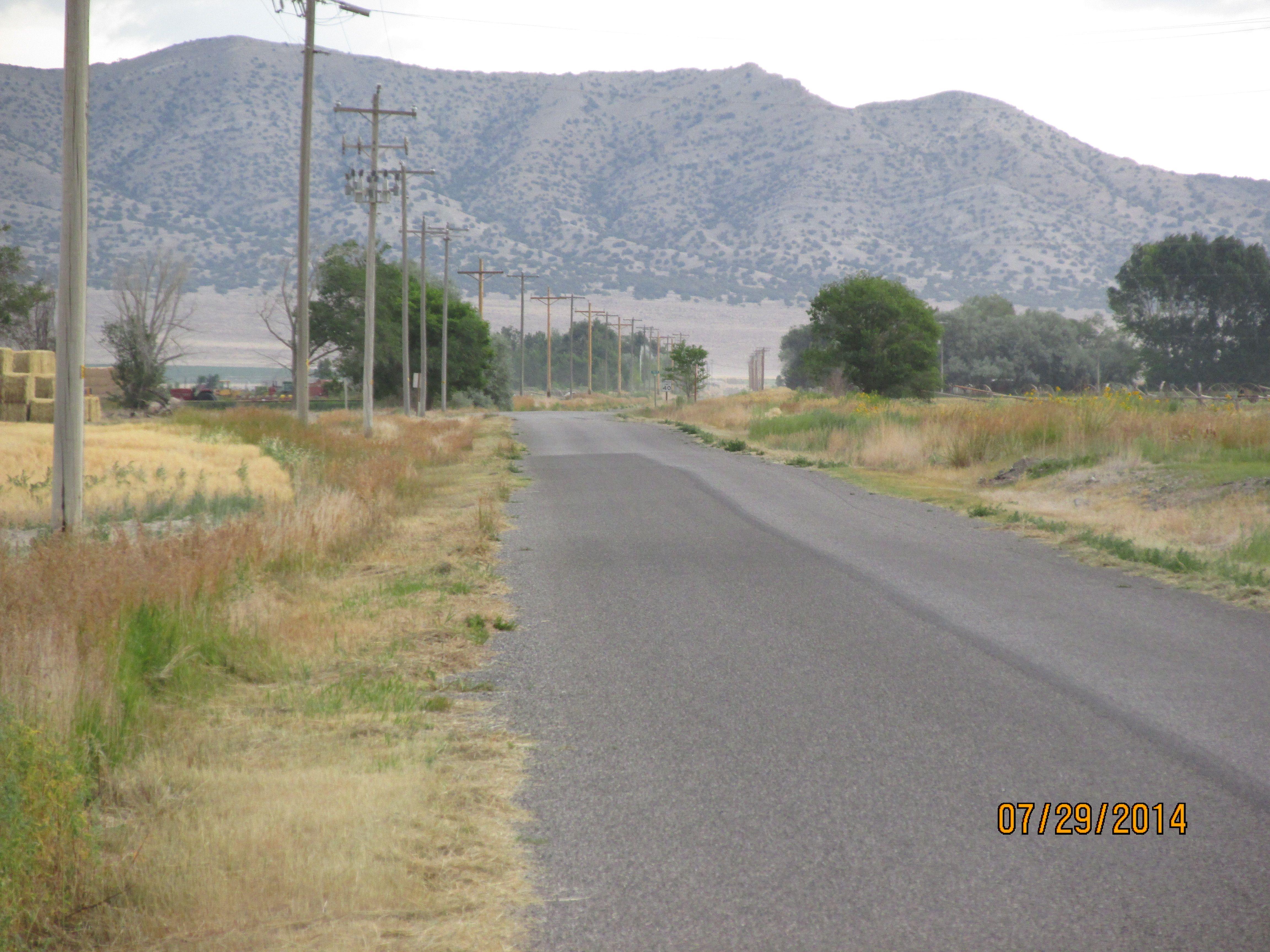 3800 North in Howe, Idaho, looking eastward Country