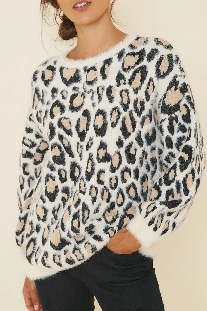 Catty Behavior Sweater | Leopard print sweater, Printed