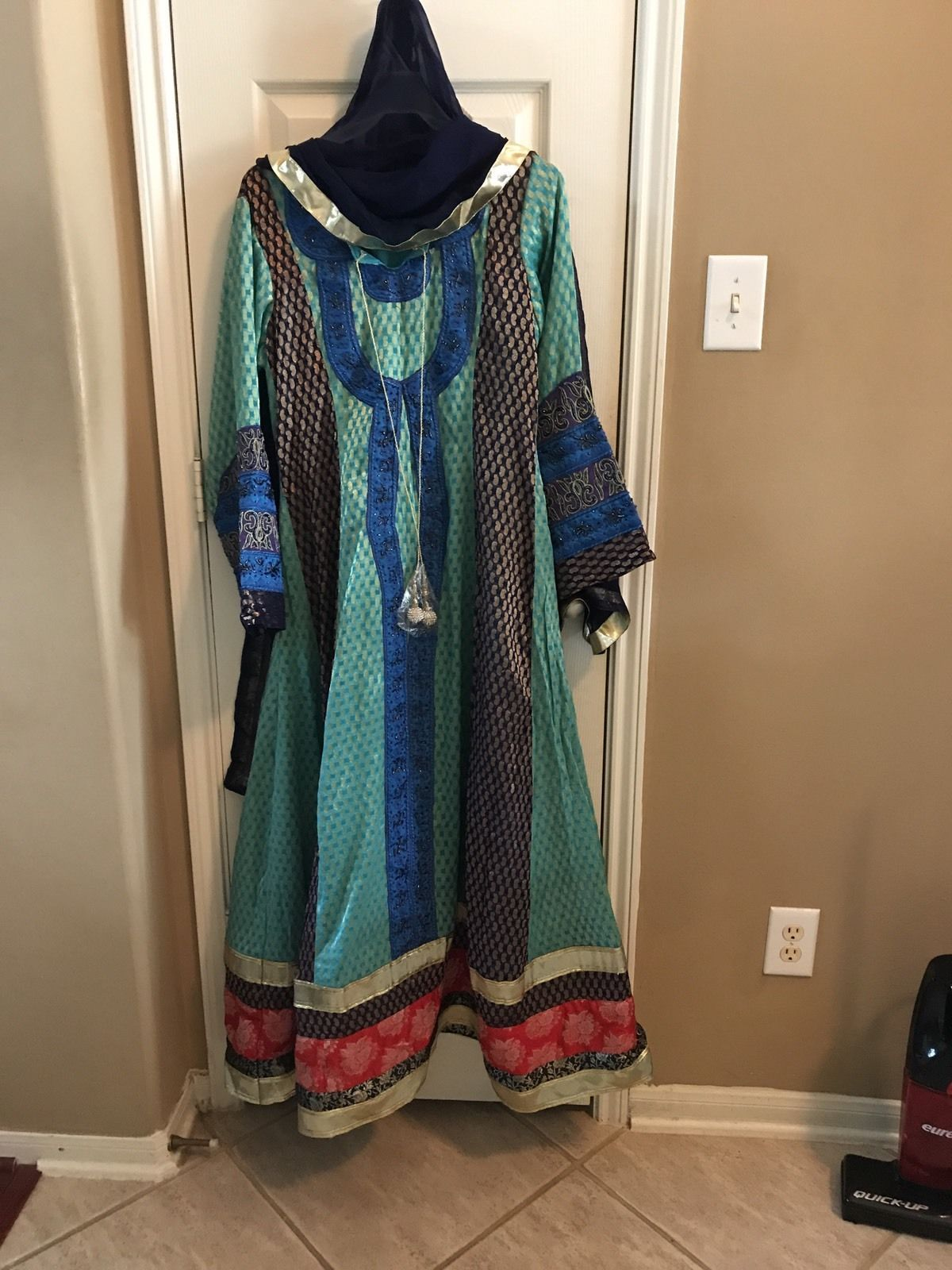 Awesome awesome indian pakistani gown designer silk long dress party