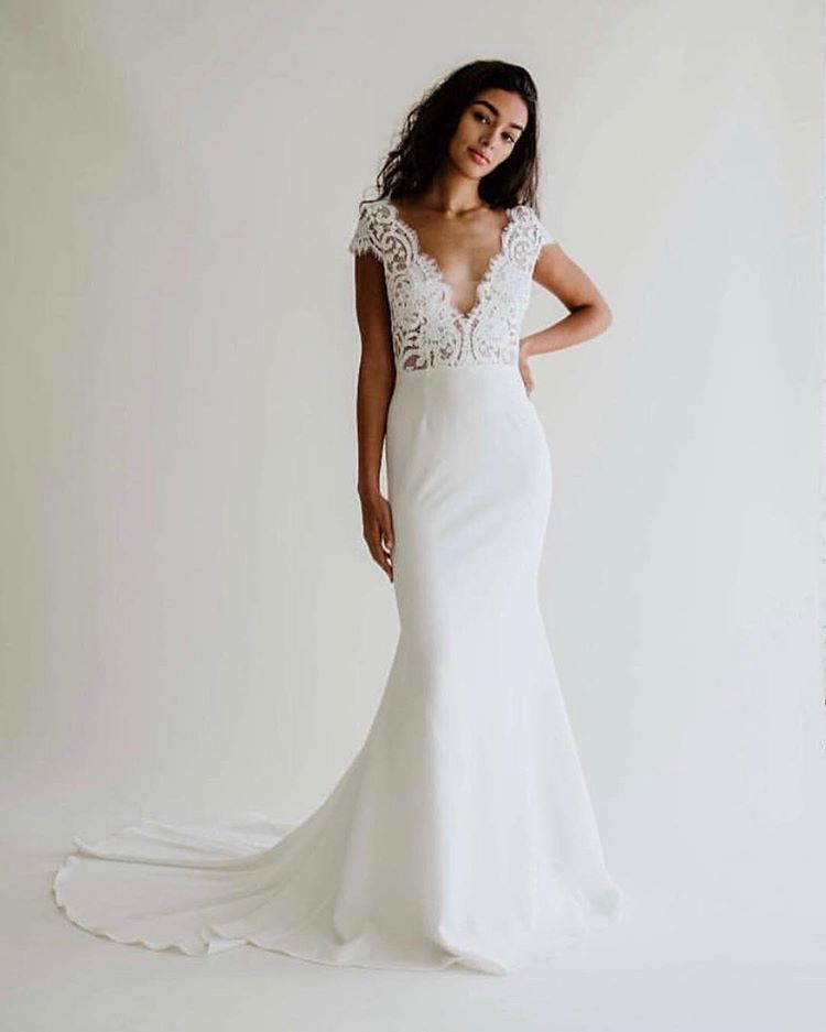 This Dress Is The Lovechild Of An Aandbabe Idea Anaisanette Know How So Excited To See The Anna Wedding Dresses Sheath Wedding Dress Bohemian Wedding Gown