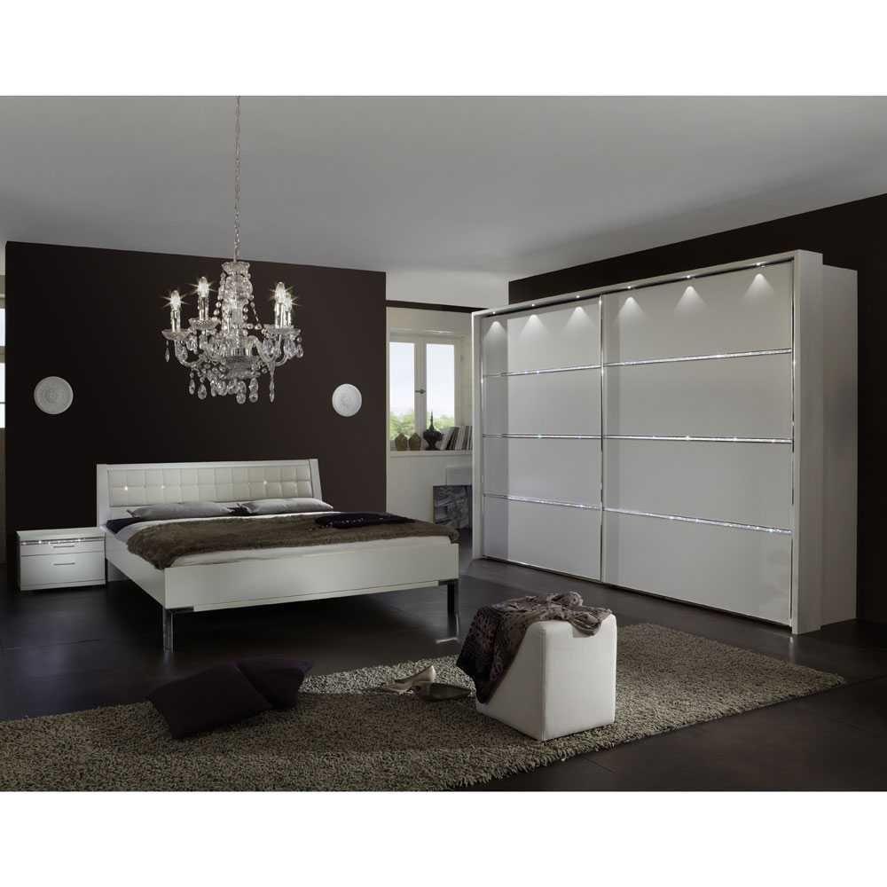 komplett Schlafzimmer in Weiß Strass (4-teilig) Jetzt bestellen ...