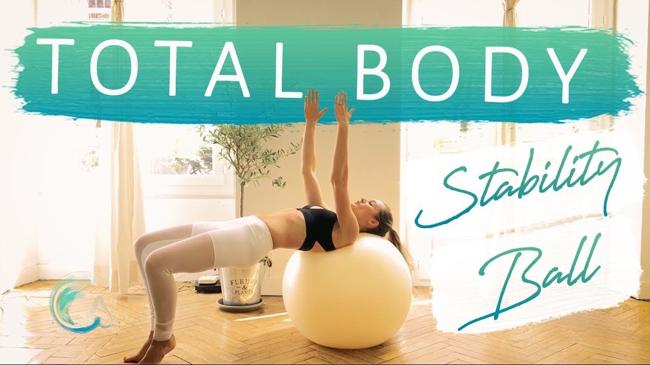 TOTAL BODY STABILITY BALL Pilates, Workout for Beginner & Intermediate #pilatesvideo