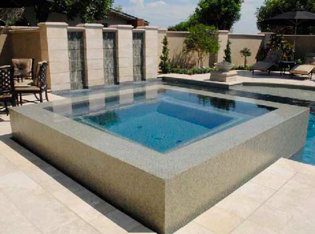 Fountain Infinity Jacuzzi Pool Built By Blue Pacific Pools Check Out Our Website For More Http Www Bluepacificpools Building A Pool Dream Backyard Pool