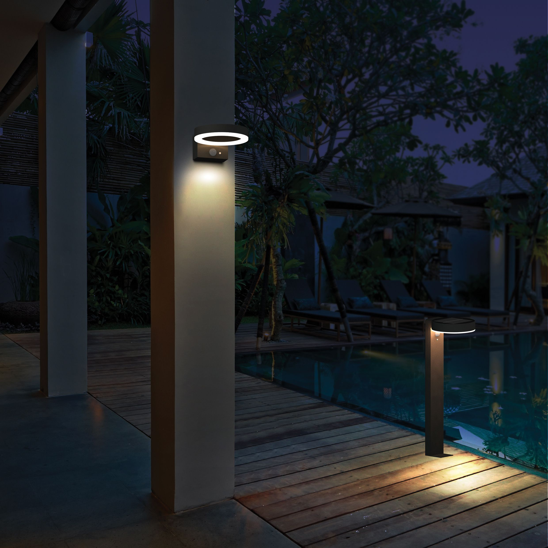 Solar Wandlamp Asker Warm Wit Licht Met Bewegingssensor Solar Tuinverlichting Wandlamp Zonneverlichting