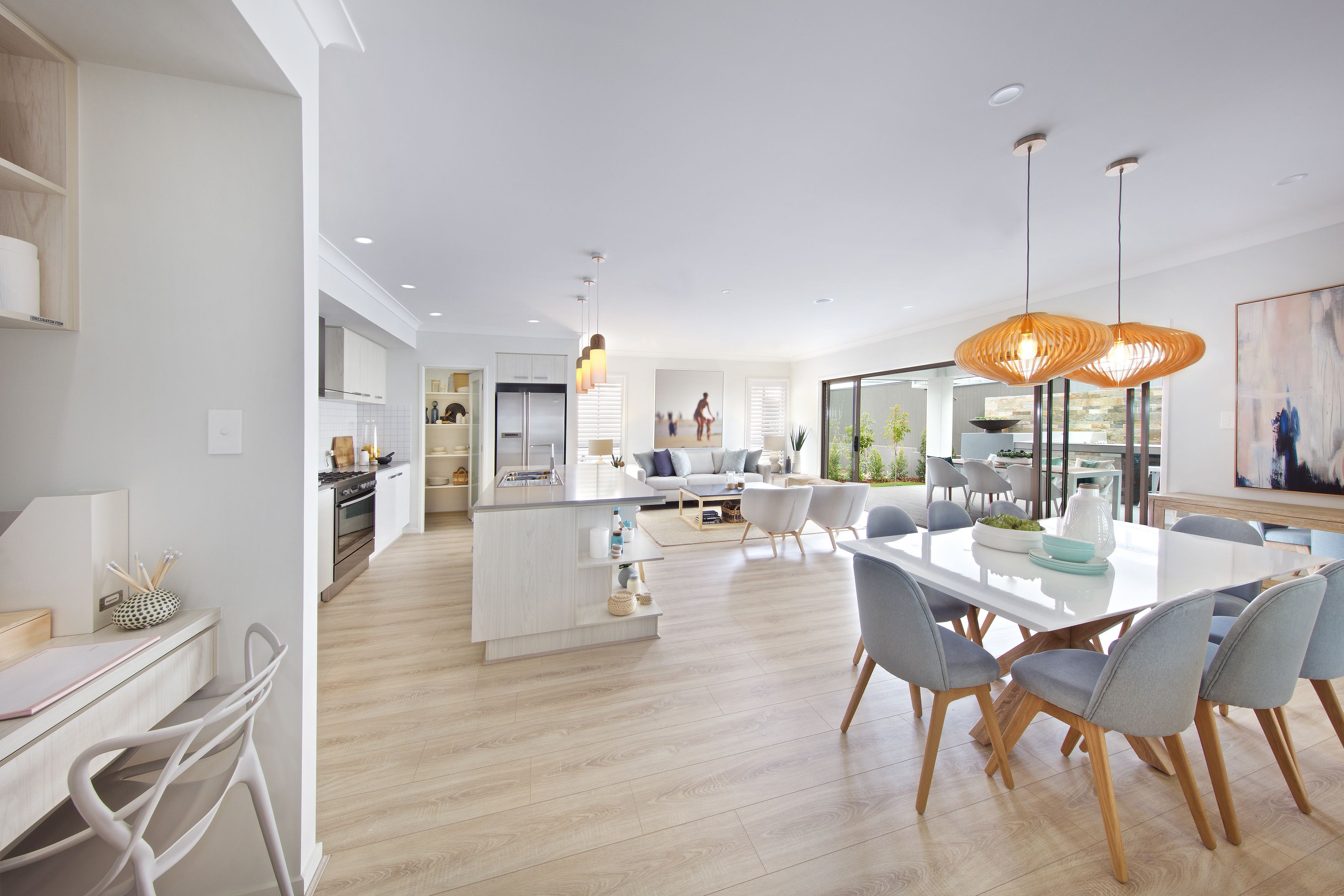 Brighton 30 | Study nook, Open plan living and Kitchen family rooms