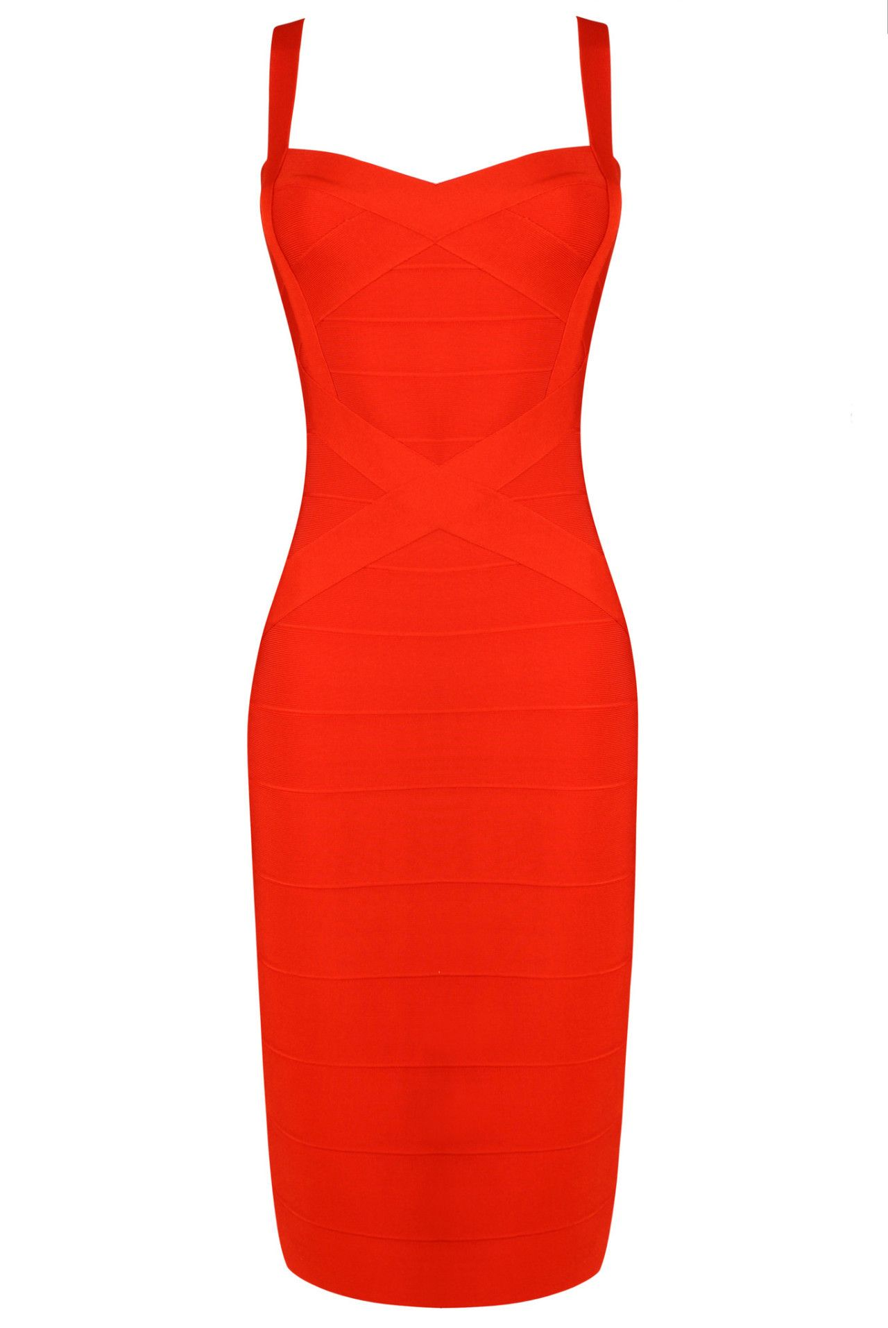 'Ruby' Red Pencil Bandage Dress