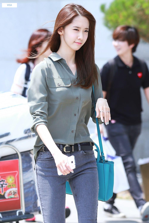snsd yoona airport fashion 140607 2014 snsd airport