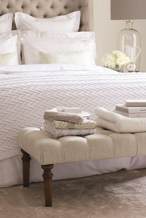 Hotel Room Accessories: End Of Bed Ottoman, Home, Guest Room