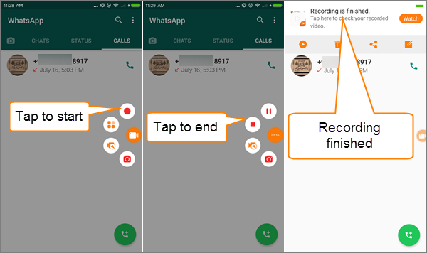 Record Whatsapp Video Call On Android Video Records Android