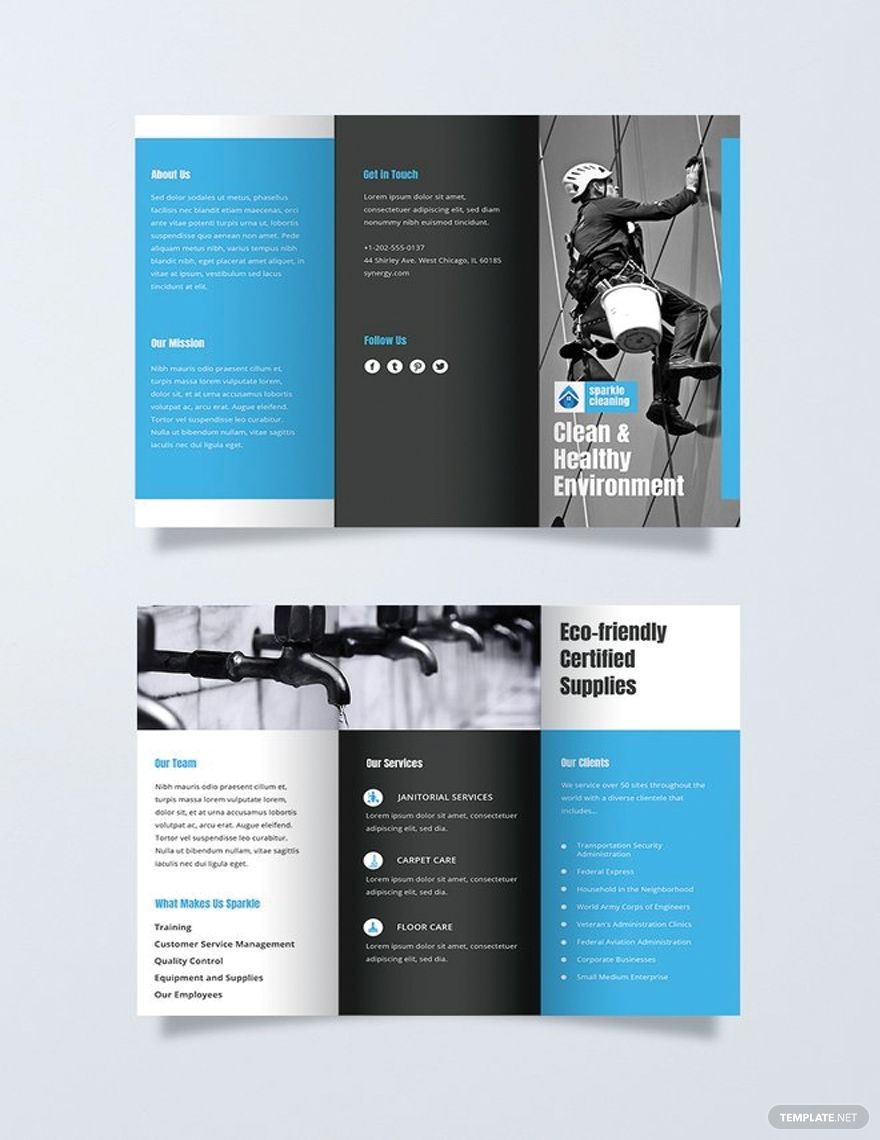 Free Cleaning Brochure Template Word Doc Psd Apple Mac Pages Illustrator Publisher Business Brochure Design Brochure Template Brochure Design