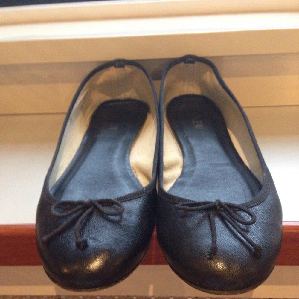 11e4199c65e9 Black leather ballet flats J.Crew Black size 7 US in Leather - 1292850
