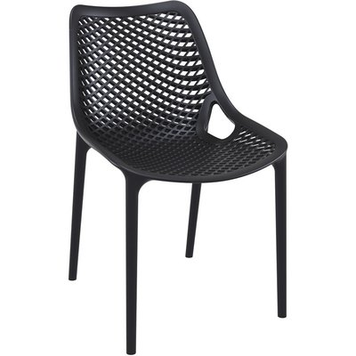 Mercury Row Deines Modern Stacking Patio Dining Chair Set Of 4 Color Black Patio Dining Chairs Outdoor Chairs Outdoor Dining Chairs