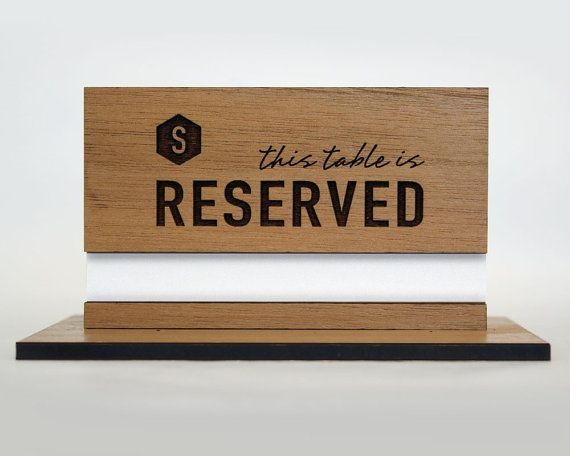 RESERVED for Krystie Table Number Holders Stainless Steel |Reserved Table Sign Holder