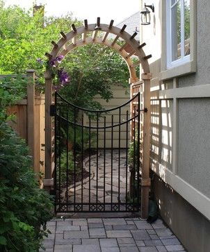 attractive gates for entrance to back yard | Building Wood ...
