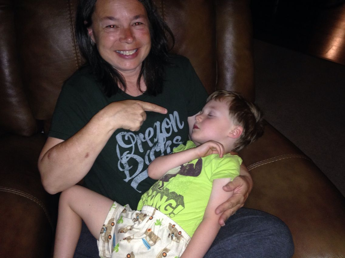 My friend & neighbor.   She's the best!!  Diane n her grandson.