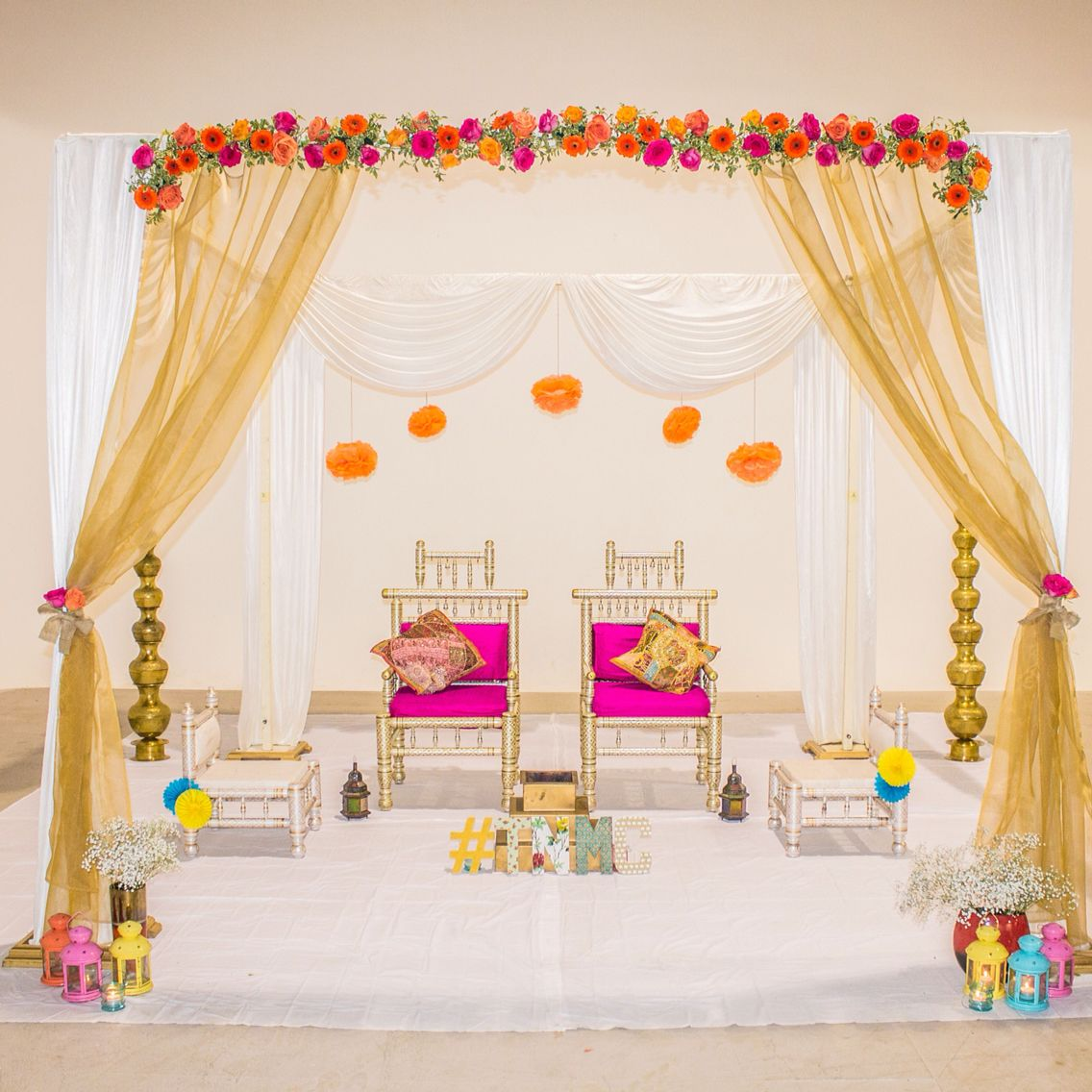 indian wedding home decoration beautifully mandap by the mandap company 5105