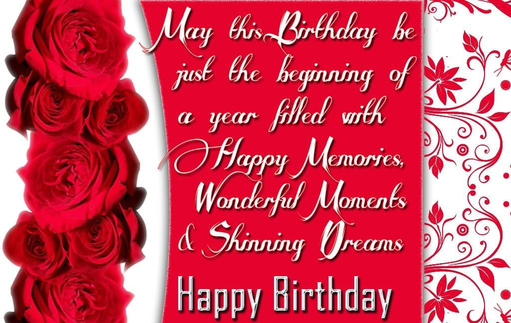 Ecards Happy Birthday Red Roses Happy Birthday