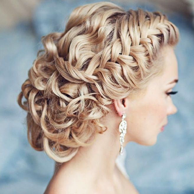 Braided Crown Updo wedding hairstyles | Wedding Hairstyle Ideas For the Bride | fabmood.com #weddinghair #bridalhair #hairstyles #upstyle #updo #weddinginspiration #weddingideas #looseupdo