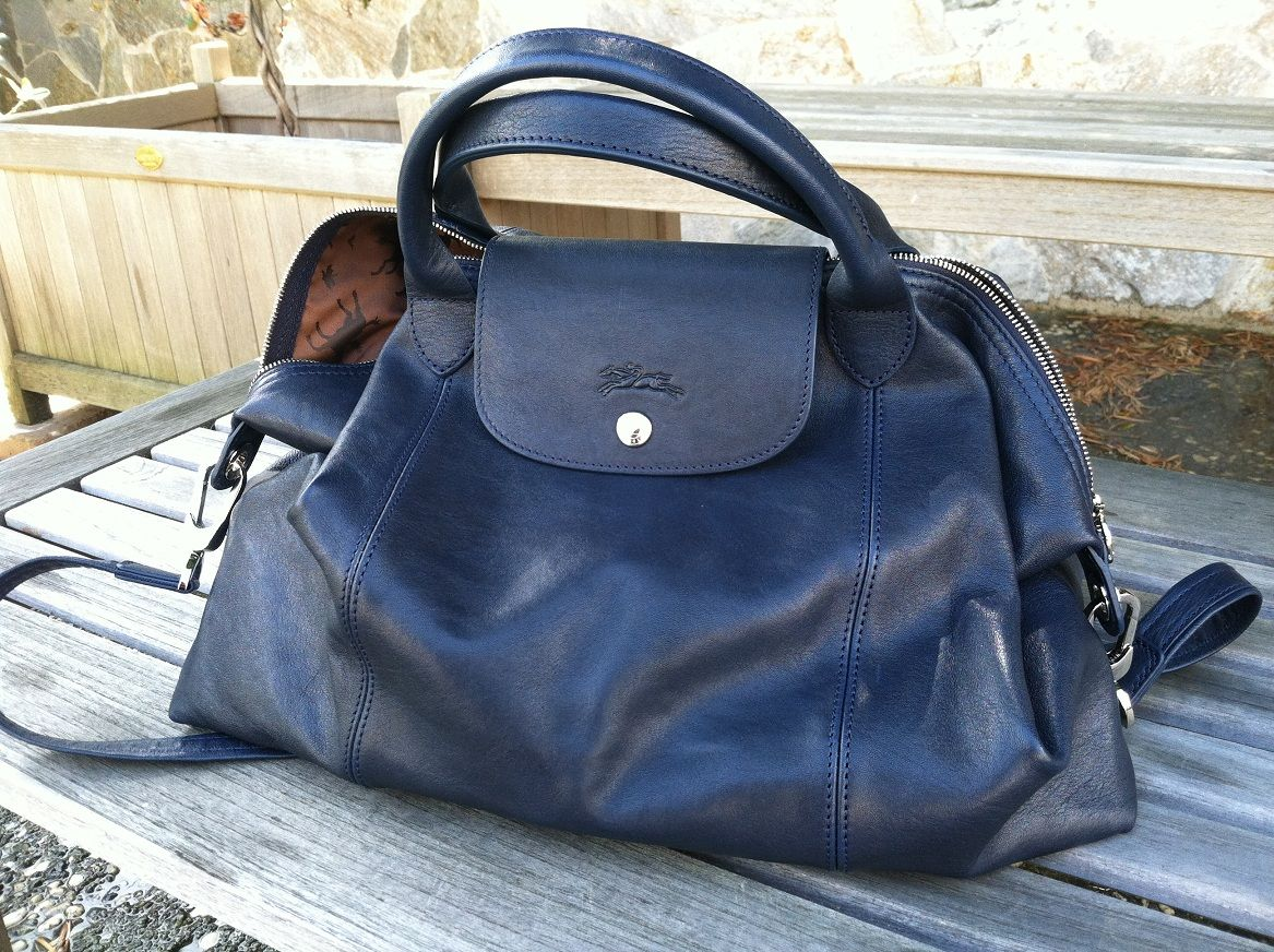 c81807eda576 Longchamp Le Pliage Cuir - (photo property of reresaurus on PurseForum)