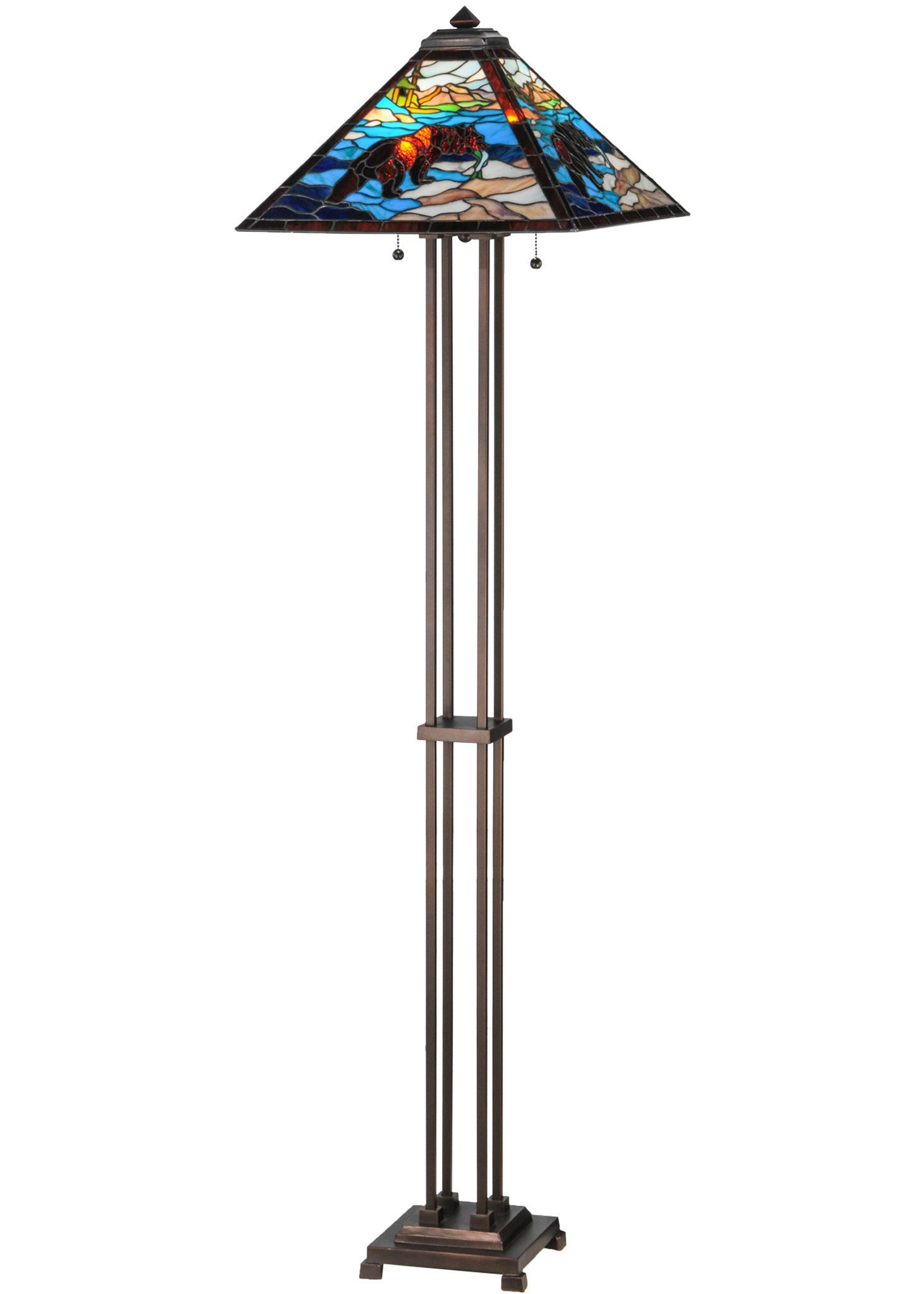 625h stained glass grizzly bear floor lamp floor lamp granite 625h grizzly bear floor lamp geotapseo Choice Image