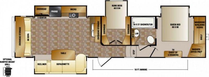 new fifth wheel - 2015 crossroads cruiser 345bh two bedroom bunk