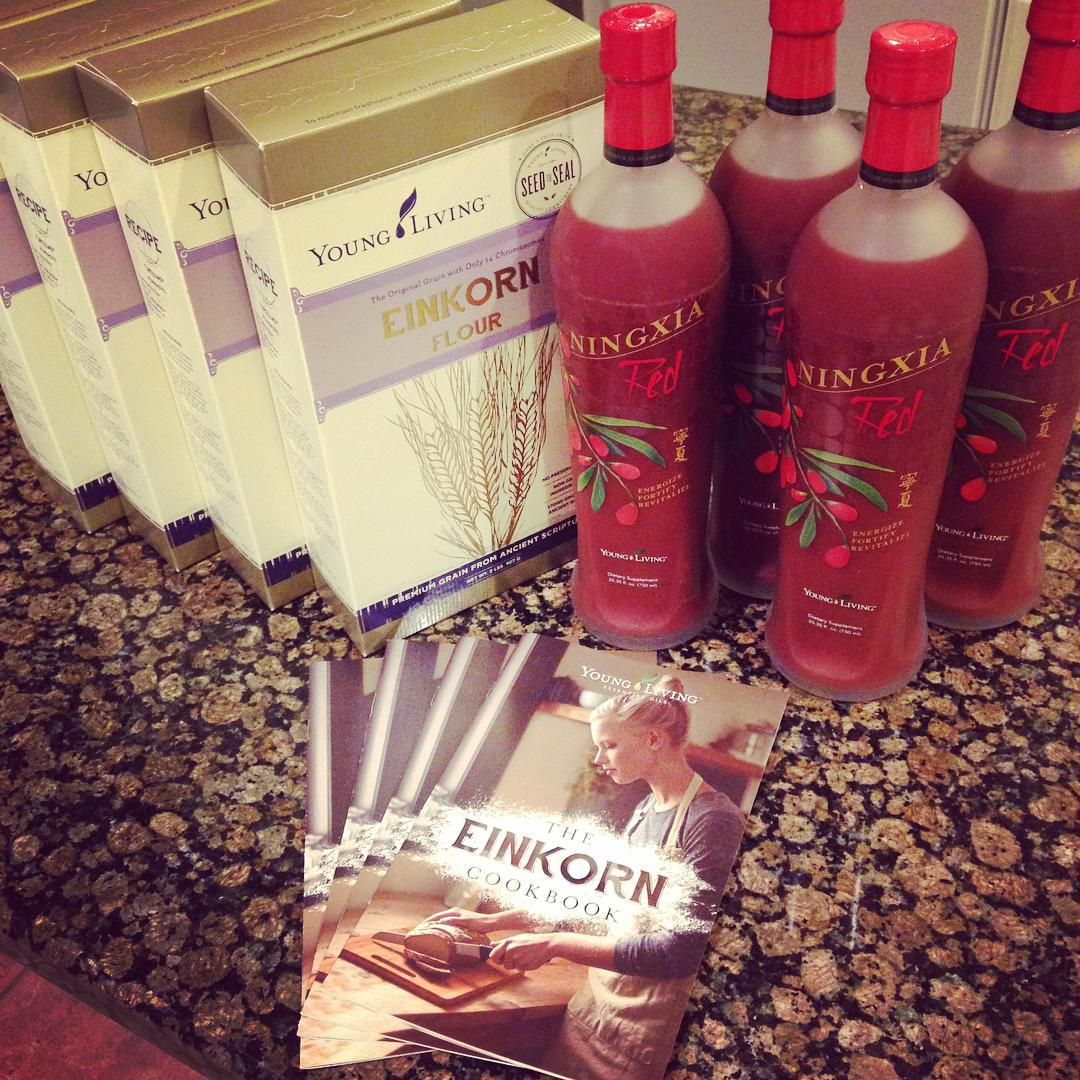 Cashed in my Essential Rewards points = #einkorn & #ningxiared for days! $177 for FREE, for realz! #youngliving #lowgluten #preppingforthanksgiving #beyondtheleaf www.beyondtheleaf.com