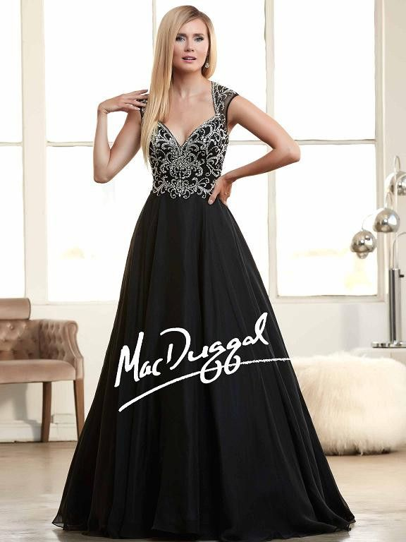 Black A Line Ball Gown Ggm Glamour Gowns And Moreprom Dresses