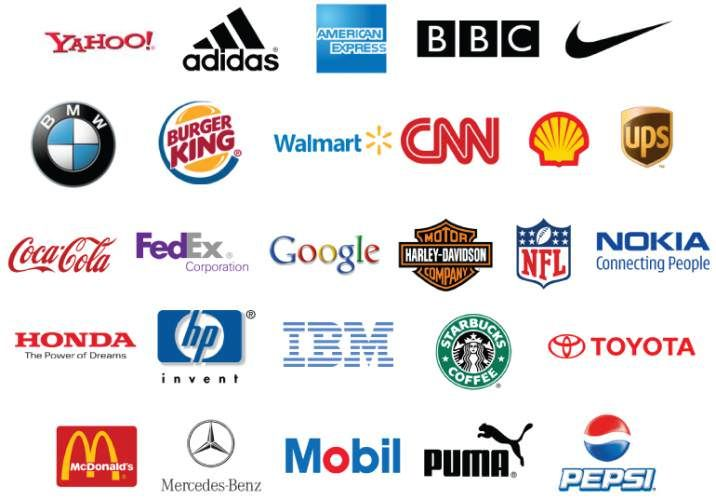most famous logos jpg 716 500 loga pinterest searching rh pinterest com Famous Logos and Their Names 100 most famous company logos
