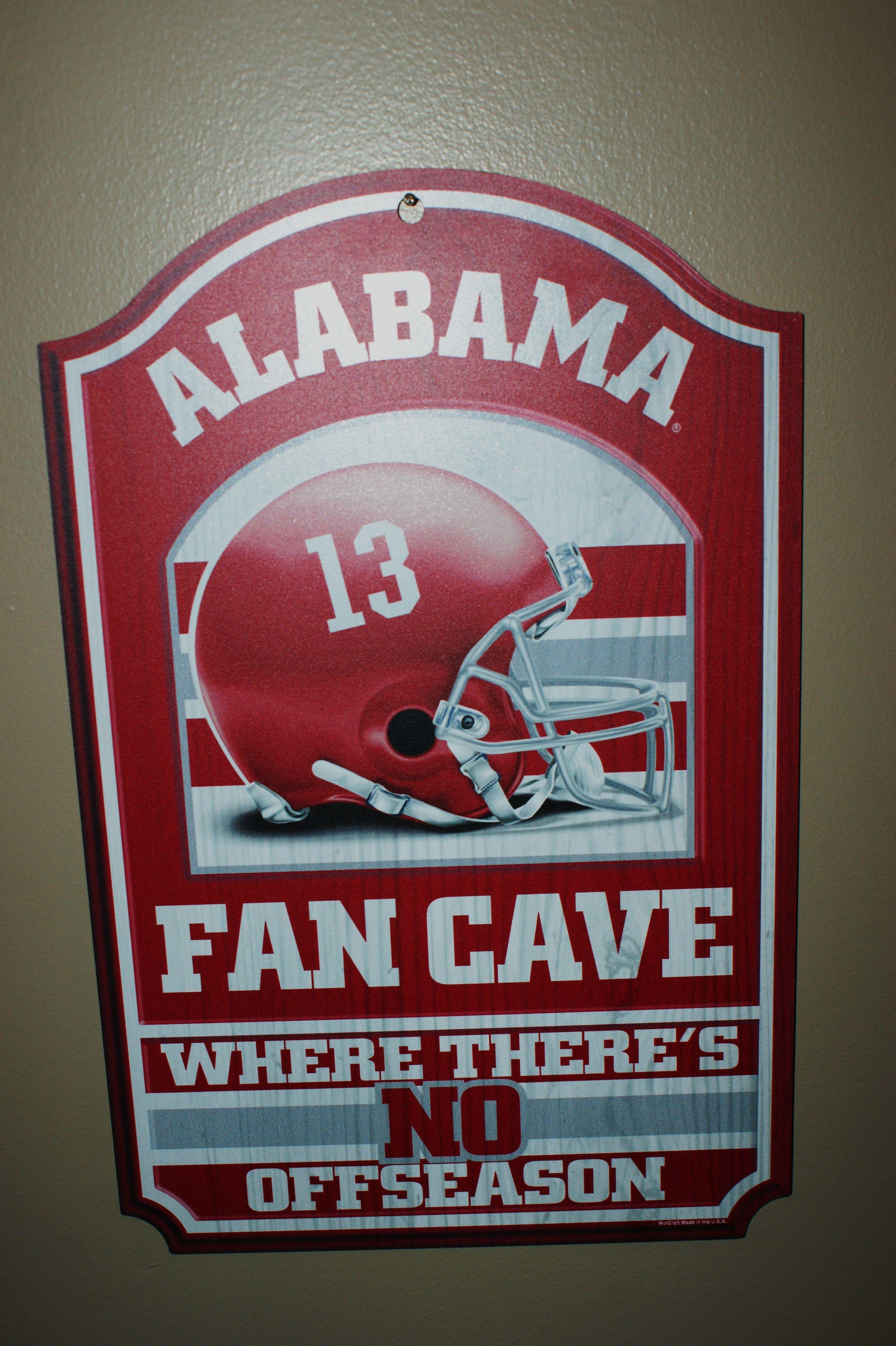 Alabama Crimson Tide Man Cave Alabama Football Alabama