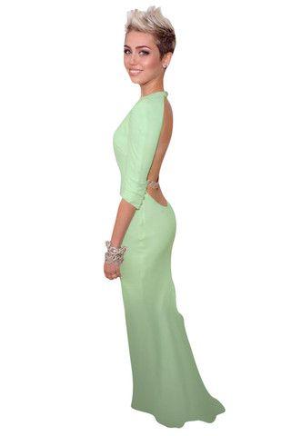 Mint Low Back Dress