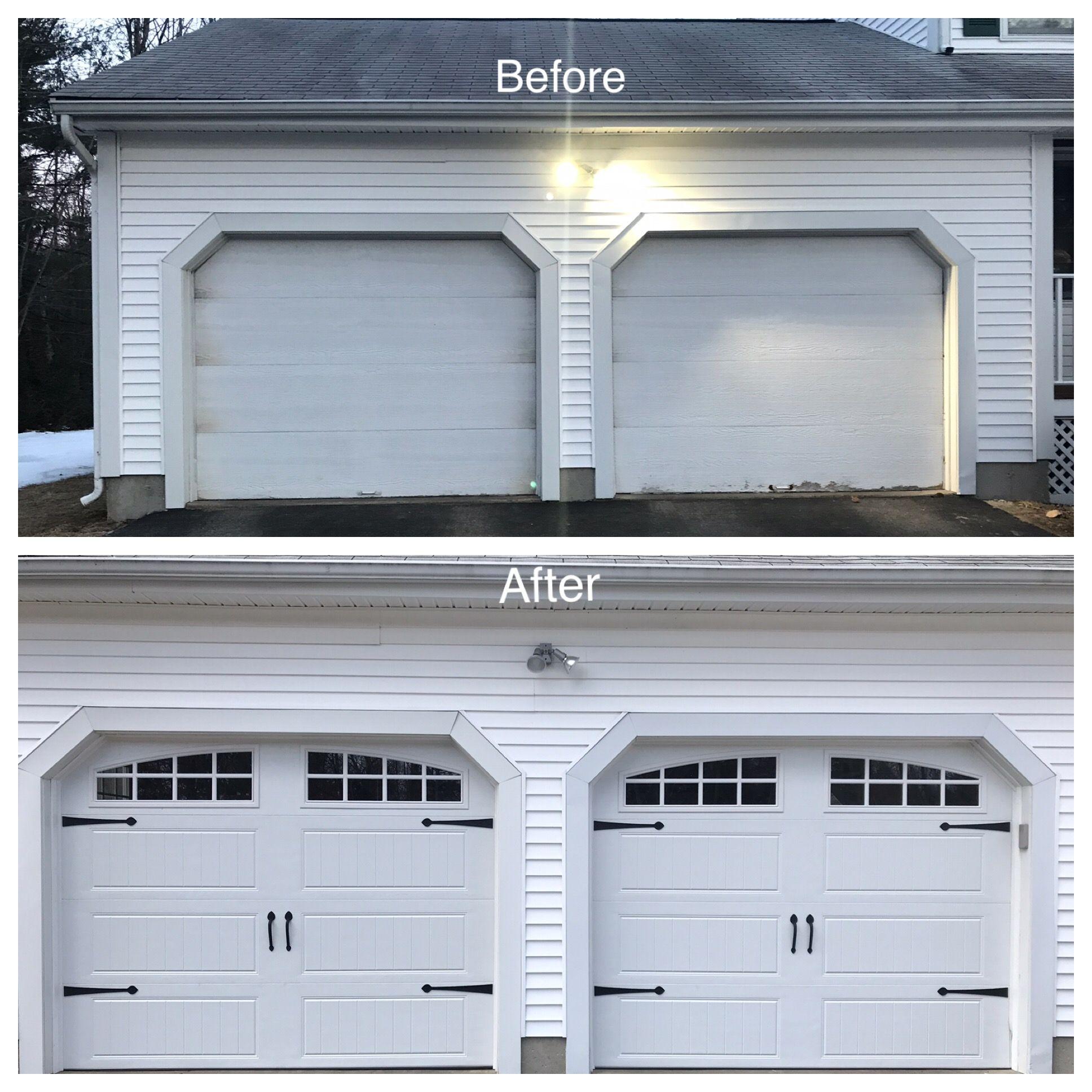 Garage Door Makeover Before And After Garage Door Makeover Garage Door Styles Contemporary Garage Doors