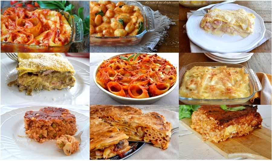 Raccolta ricette primi piatti al forno idee per natale for Ricette italiane primi piatti